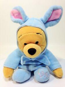 "Disney Easter Bunny Winnie Pooh Bear Stuffed Plush Toy Animal Mini Bean Bag 8"""