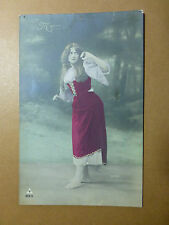 Lot066p c1910 LOVELY YOUNG Unknown GYPSY LADY MIGNON Cute Postcard FRANCE