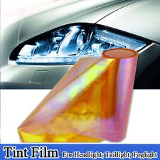 """12""""x72"""" Chameleon Color Orange Headlight Taillight Fog Light Tint Film Vinyl"""