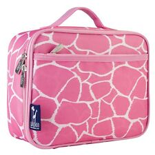 Wildkin Lunch Boxes for Girls and Boys Insulated High-quality Kids Lunchboxes Pink Giraffe W33260