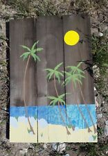 Hand made, recycled wood, beach sign 16x24""