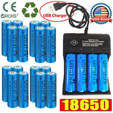 20X Quality UltraFire 18650 Batteries 3.7V Li-ion Rechargeable Battery Chargers