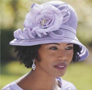 Ashro Jack McConnell Rosette Hat Lavender Easter Church Matches Celine Dress