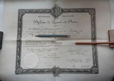 1882+Ministere des Beaux Arts+Octave Gréard+Jules Duvaux+Diplome+Martin