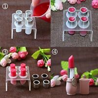 Silicone Lipstick Mould Holder Lip Balm Mold Stand Clear 4 Hole Make Up Tool
