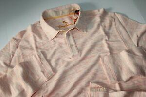 Tommy Bahama Polo Shirt Mauni Lani Spectator Fusion Pink New LS Medium  M