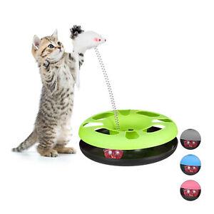 1 x Katzenspielzeug grün Katzenzubehör Cat Toy Maus Kugelbahn Katze Spielzeug