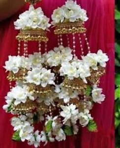 White Kalire Jewelry Bridal Flower Jewelry Kalera Wedding jewelry,Haldi,Sangeet