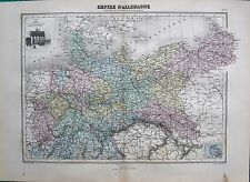 1883 ANTIQUE MAP- GERMAN EMPIRE, PRUSSIA AND OTHER NORTHERN STATES