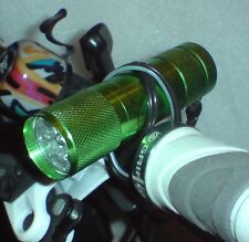 LED-FAHRRAD-BELEUCHTUNG - 9x LED´s - SCHEINWERFER - SEHR HELL - in 3 FARBEN - 1a
