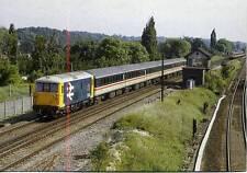 Electro Diesel Class 73 73142 BROADLANDS Coulsdon Gatwick Express 1984 postcard