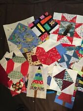 50 + Patchwork Quilt Blocks - Handmade - All Sizes and Colors - Made in Vermont