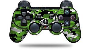 Skin for PS3 Controller WraptorCamo Digital Camo Green CONTROLLER NOT INCLUDED