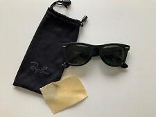 Genuine Vintage B&L Ray-Ban Wayfarer USA Black Sunglasses L2009