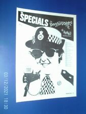 More details for the specials - bodysnatchers tour ska 2 tone - a4 poster advert 1980 original