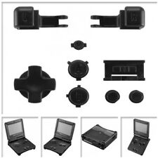 Solid Black Design Repair Parts Full Buttons for Nintendo Game Boy Advance SP