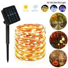 Solar 5~30M LED String Strip Lights Waterproof Fairy Lighrs Outdoor Garden Party