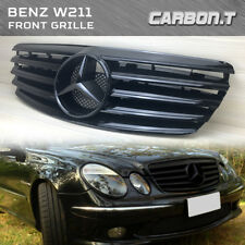 Front Grille Fit Mercedes Benz E-Class W211 2003-2006 SHINY BLACK E320 E350 E500