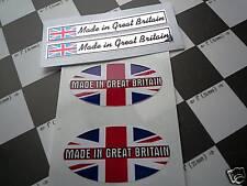 Made in Great Britain setof 4 classic car bike stickers