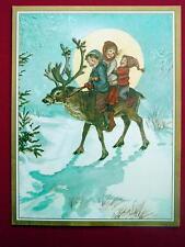 Moonlit Ride ~ Tasha Tudor ~ Unused Christmas Greeting Card ~ Adorable