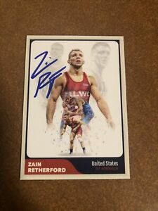 Zain Retherford Penn State PSU Wrestling NLWC Authentic Autograph Signed Card