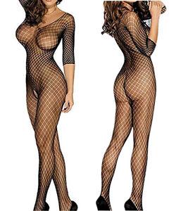 Sexy Bodystocking Lingerie Open Crotch Fishnet Body Stocking Plus Size 6-24