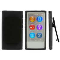 Magideal Skin Cover Case with Belt Clip For iPod Nano 7 7G 7th Gen Black
