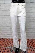 Pantalone ARMANI JEANS Comfort fit LINO Donna Taglia 31 Woman Bianco VITA ALTA