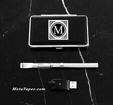 LED Touch Button Vape CBD Pen Kit in Silver
