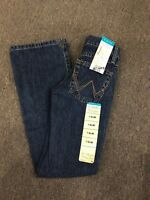 WRANGLER Girl's Cowgirl Cut Riding Vented Boot Cut Denim Jeans GRC10AS NWT