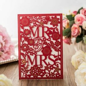Wedding Invitations Card Hollow Paper Board Party Favors Decoration Event Supply