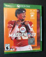 Madden NFL 20 (XBOX ONE) NEW