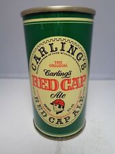 RED CAP ALE CARLING STRAIGHT STEEL PULL TAB BEER CAN 112-39 NATICK MASSACHUSETTS