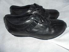 Timberland Para Mujeres Con Cordones Cuero Negro Boot Size UK 4 EU 37 nos 7 W en muy buena condición