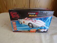 (F) 2008 Jada Toys Wb Speed Racer Mach 5 Vehicle Building Snap'n'Build