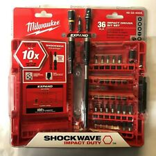 Milwaukee 36pc Shockwave Impact Driver Bit Set w/ Case NEW in Package 48-32-4005