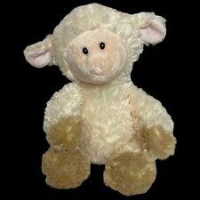 "Aurora Lamb Baby Sheep Plush Stuffed Animal 12"" Fuzzy Fluffy Soft Shower Nursery"