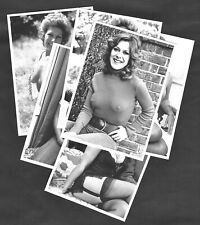 Lynda Bellingham Sexy 1970's Pinup Model Actress Postcards Set Nylon Stockings