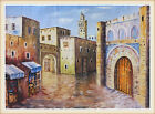 Large Moroccan Original Painting Canvas Moroccan Old City Kasbah Unframed