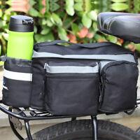 6L Big Size Bicycle Rear Seat Trunk Bag Handbag Pannier Bike Luggage Pack Rack