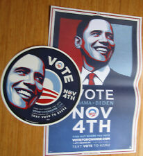 President Barack Obama Campaign Poster & Cling 2008  By Shepard Fairey, Last One