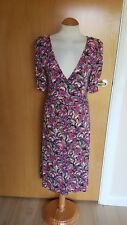 ladies GREAT PLAINS stretch floral dress size XS 8 10 pink purple