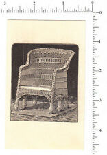 4743 Wakefield Rattan trade card 6 leg wicker chair, baby carriage, furniture