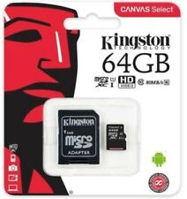 Kingston 64gb Micro SD Card SDXC TF Memory Card Class 10 UHS 1 + SD Adapter UK