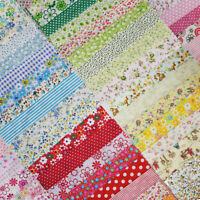50pcs 8in x 8in Cotton Fabric Precut Craft Square Patchwork Sheets Sewing Fabric