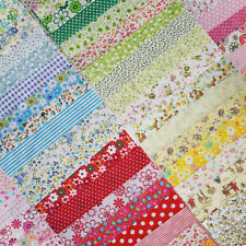 50pcs 8in x 8in Cotton Fabric Craft Linen Square Precut Patchwork Sheets Sewing