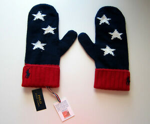 Polo Ralph Lauren 2018 Team USA Olympic Pyeongchang Gloves Mittens Ceremony L/XL