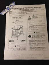 Vermont Castings aspen 1920  wood stove manual operation installation