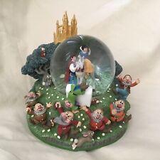 Disney Snow White & Seven Dwarfs Musical Box Figurines SnowGlobes-MIB