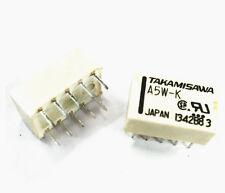 10 PCS Relais Takamisawa A5W-K DIP-10 Relay 2x UM 5V Audio Signal